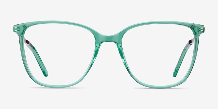 Aroma Emerald Green Metal Eyeglass Frames from EyeBuyDirect, Front View