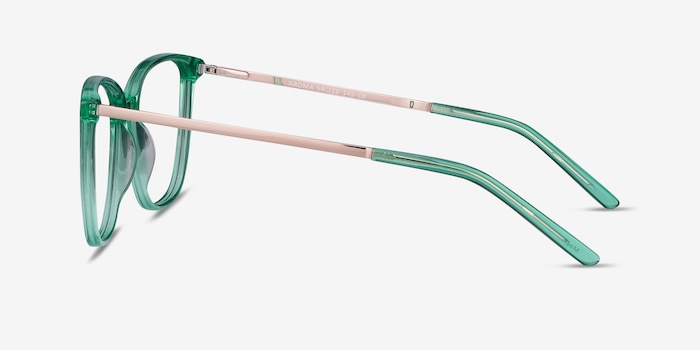 Aroma Emerald Green Metal Eyeglass Frames from EyeBuyDirect, Side View