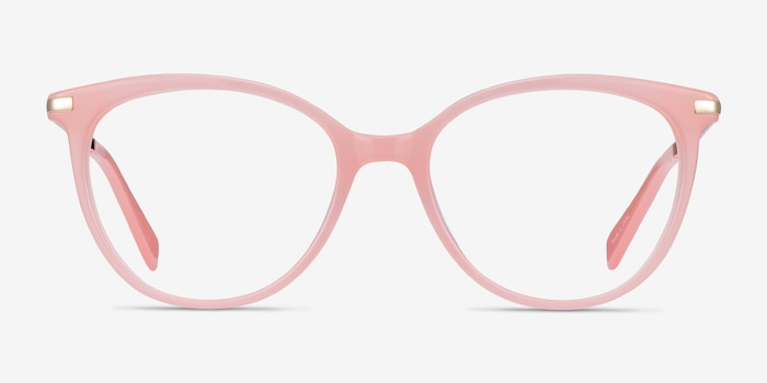 Attitude Coral Acetate Eyeglass Frames from EyeBuyDirect, Front View