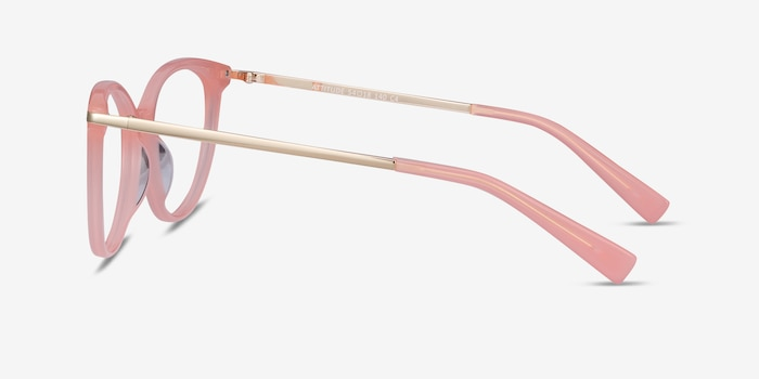 Attitude Coral Acetate Eyeglass Frames from EyeBuyDirect, Side View