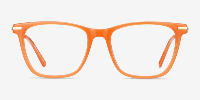 Sebastian Orange Acetate-metal Eyeglass Frames from EyeBuyDirect, Front View