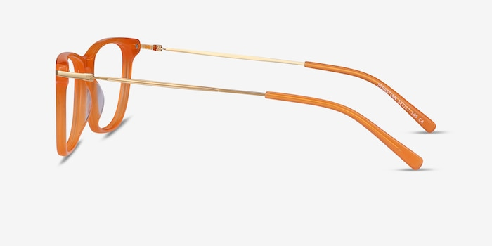 Sebastian Orange Acetate Eyeglass Frames from EyeBuyDirect, Side View