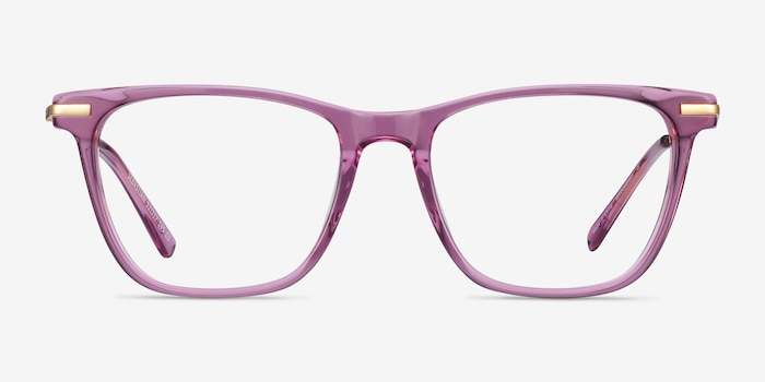 Sebastian Purple Acetate Eyeglass Frames from EyeBuyDirect, Front View