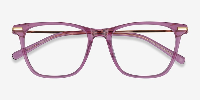 Sebastian Purple Acetate Eyeglass Frames from EyeBuyDirect, Closed View