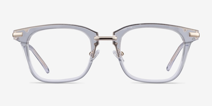 Candela Clear Metal Eyeglass Frames from EyeBuyDirect, Front View