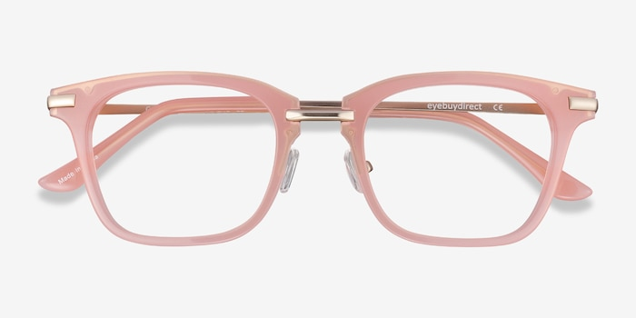 Candela Pink Metal Eyeglass Frames from EyeBuyDirect, Closed View