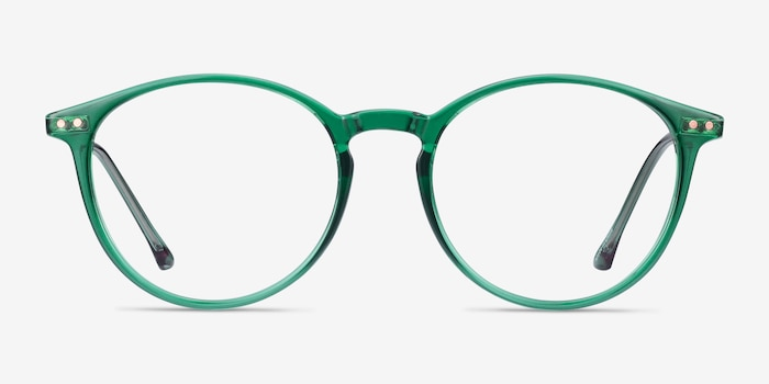 Amity Emerald Green Plastic-metal Eyeglass Frames from EyeBuyDirect, Front View