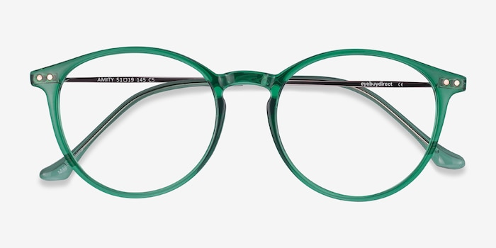Amity Emerald Green Plastic-metal Eyeglass Frames from EyeBuyDirect, Closed View