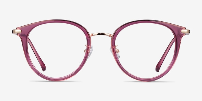 Hollie Cassis Metal Eyeglass Frames from EyeBuyDirect, Front View