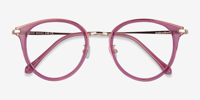 Hollie Cassis Metal Eyeglass Frames from EyeBuyDirect, Closed View