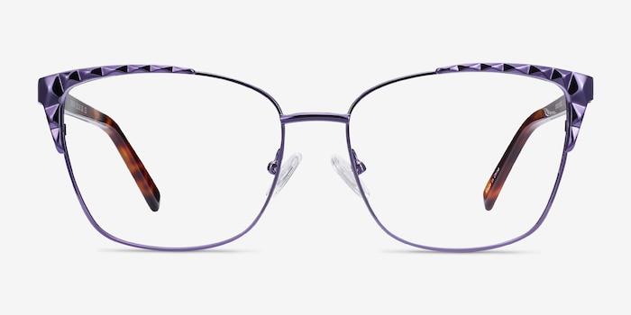 Signora Purple Acetate-metal Eyeglass Frames from EyeBuyDirect, Front View