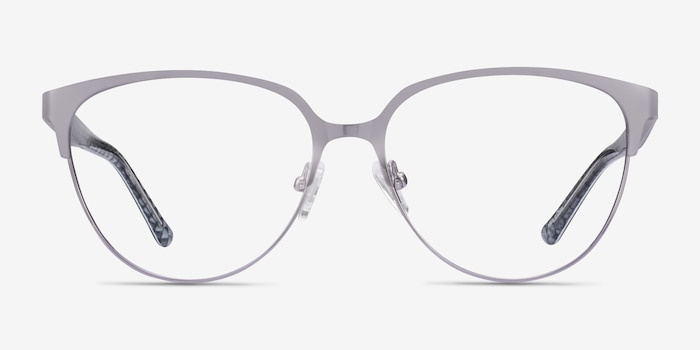Marigold Silver & Reptile Acetate-metal Eyeglass Frames from EyeBuyDirect, Front View