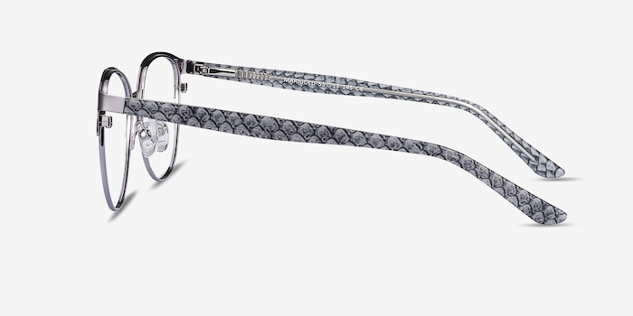 Marigold Silver & Reptile Acetate-metal Eyeglass Frames from EyeBuyDirect, Side View