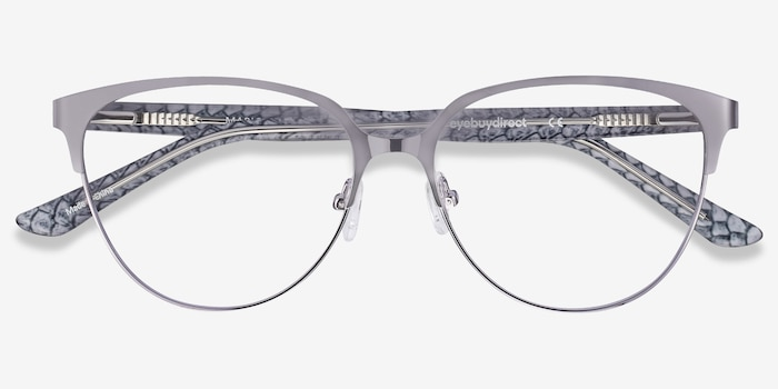 Marigold Silver & Reptile Acetate-metal Eyeglass Frames from EyeBuyDirect, Closed View