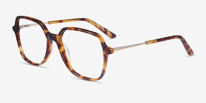Lenny Tortoise Acetate-metal Eyeglass Frames from EyeBuyDirect, Angle View