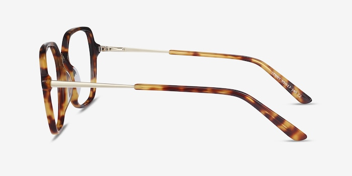 Lenny Tortoise Acetate-metal Eyeglass Frames from EyeBuyDirect, Side View