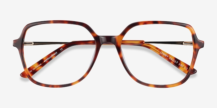 Lenny Tortoise Acetate-metal Eyeglass Frames from EyeBuyDirect, Closed View