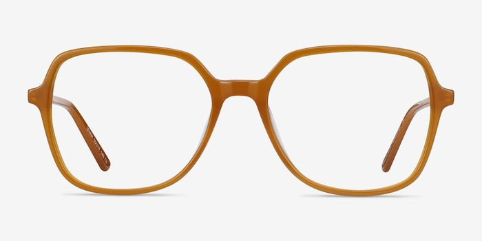 Lenny Mellow Yellow Acetate Eyeglass Frames from EyeBuyDirect, Front View