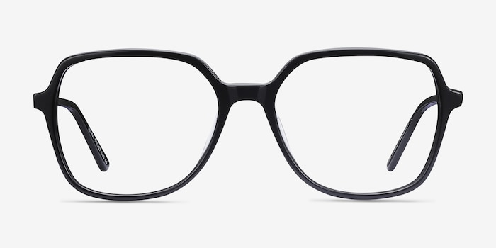 Lenny Black Acetate-metal Eyeglass Frames from EyeBuyDirect, Front View