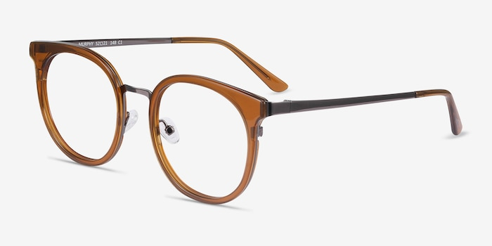 Murphy Brown Metal Eyeglass Frames from EyeBuyDirect, Angle View