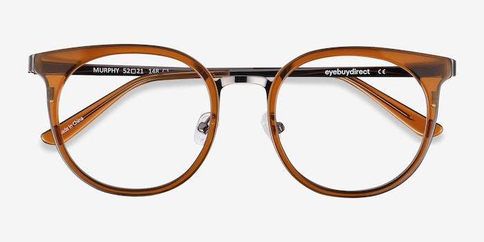 Murphy Brown Metal Eyeglass Frames from EyeBuyDirect, Closed View