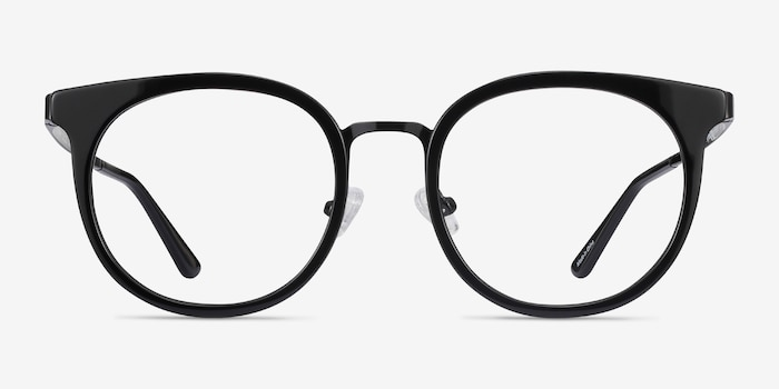 Murphy Black Acetate-metal Eyeglass Frames from EyeBuyDirect, Front View
