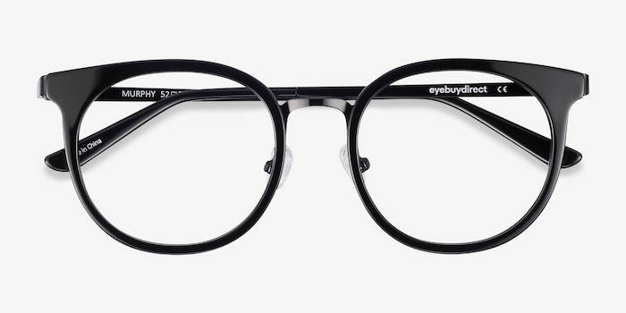 Murphy Black Acetate-metal Eyeglass Frames from EyeBuyDirect, Closed View