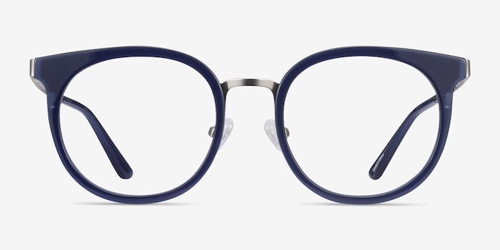 Murphy Navy Acetate Eyeglass Frames from EyeBuyDirect, Front View