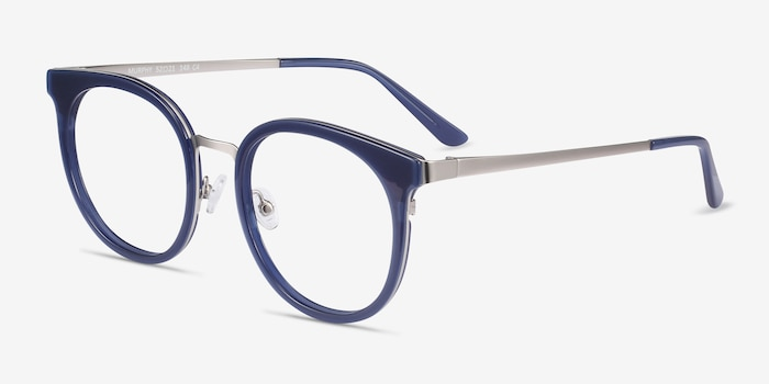 Murphy Navy Acetate Eyeglass Frames from EyeBuyDirect, Angle View