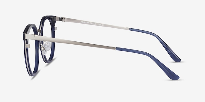 Murphy Navy Acetate Eyeglass Frames from EyeBuyDirect, Side View