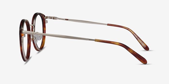 Jezzie Tortoise & Gold Acétate Montures de Lunette de vue d'EyeBuyDirect, Vue de Côté