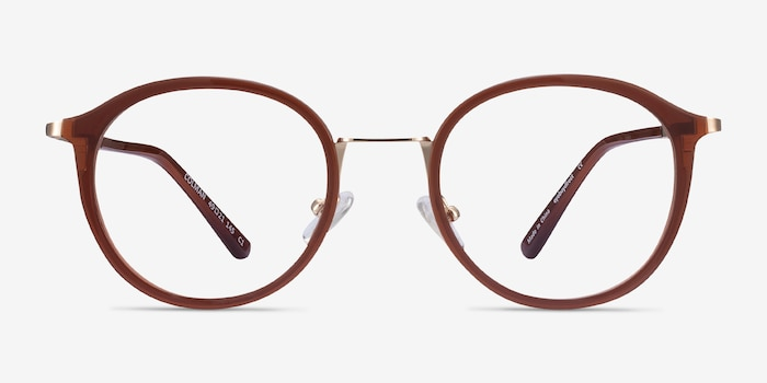 Colman Coffee Acetate-metal Eyeglass Frames from EyeBuyDirect, Front View
