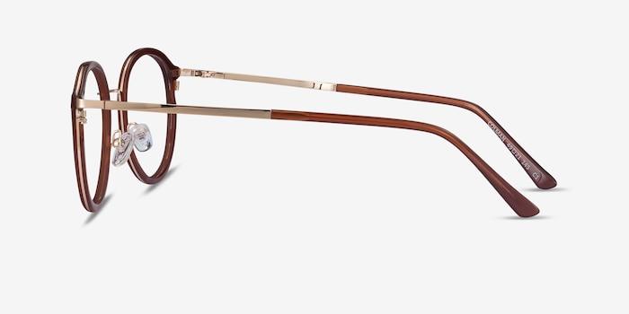 Colman Coffee Acetate-metal Eyeglass Frames from EyeBuyDirect, Side View