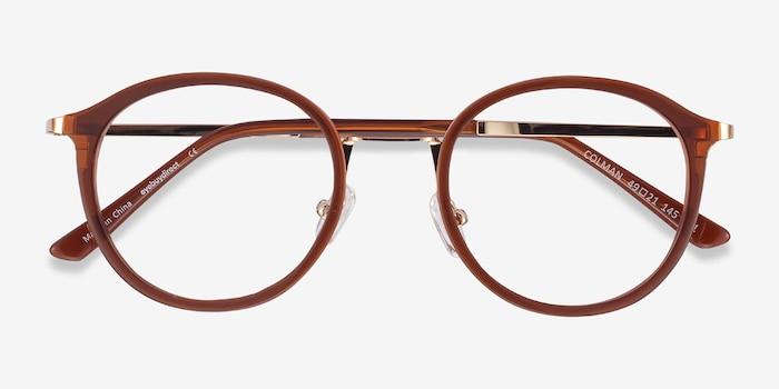 Colman Coffee Acetate-metal Eyeglass Frames from EyeBuyDirect, Closed View