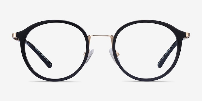 Colman Black Acetate-metal Eyeglass Frames from EyeBuyDirect, Front View