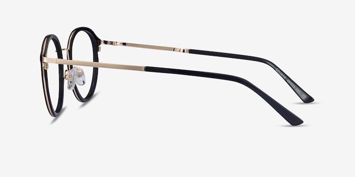 Colman Black Acetate-metal Eyeglass Frames from EyeBuyDirect, Side View