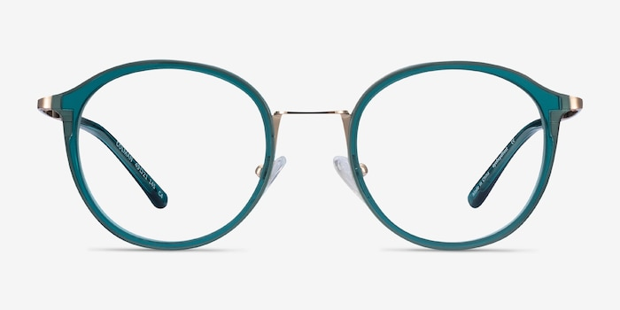 Colman Green Acetate Eyeglass Frames from EyeBuyDirect, Front View