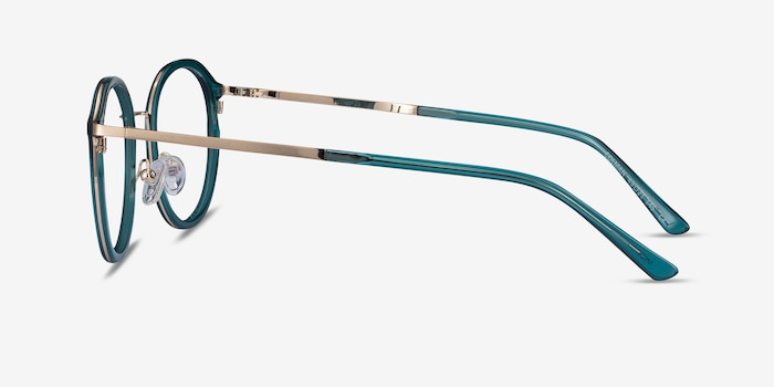 Colman Green Acetate Eyeglass Frames from EyeBuyDirect, Side View