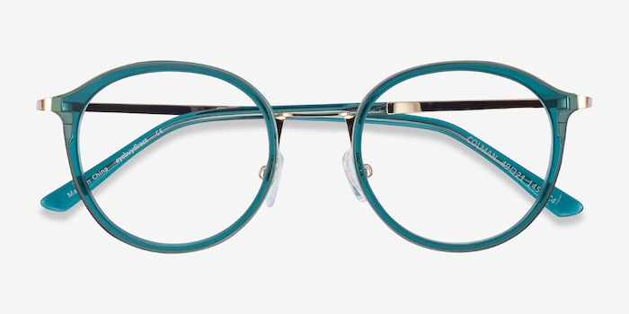 Colman Green Acetate Eyeglass Frames from EyeBuyDirect, Closed View