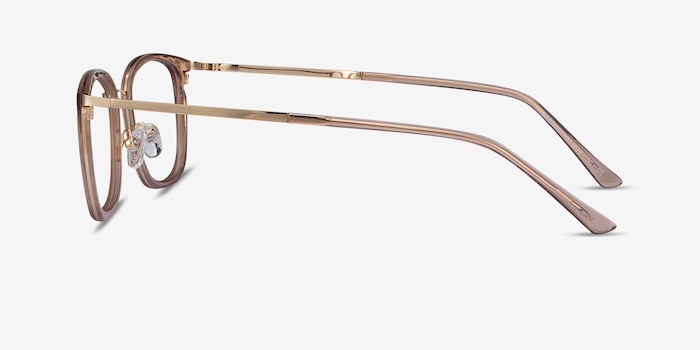 Barnaby Clear Brown Acetate-metal Eyeglass Frames from EyeBuyDirect, Side View