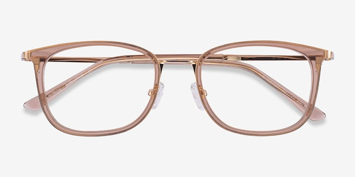 Barnaby Clear Brown Acetate-metal Eyeglass Frames from EyeBuyDirect, Closed View