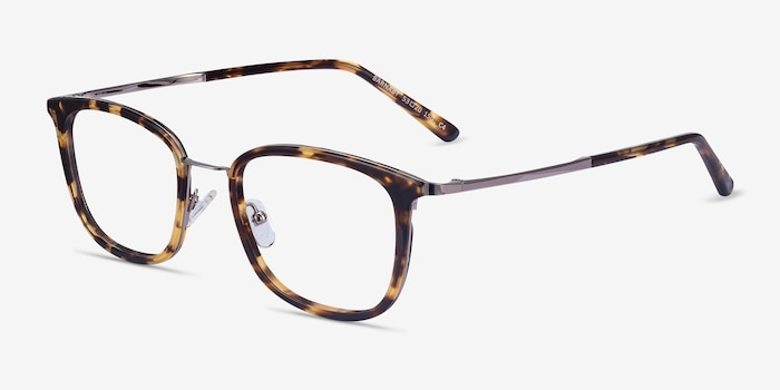 Barnaby Tortoise Acetate-metal Eyeglass Frames from EyeBuyDirect, Angle View