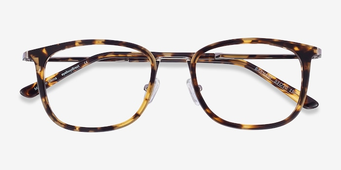 Barnaby Tortoise Acetate-metal Eyeglass Frames from EyeBuyDirect, Closed View