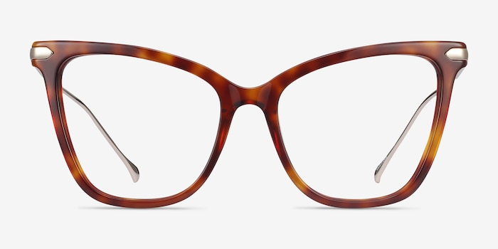 Domy Tortoise Acetate-metal Eyeglass Frames from EyeBuyDirect, Front View