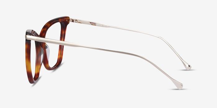 Domy Tortoise Acetate-metal Eyeglass Frames from EyeBuyDirect, Side View