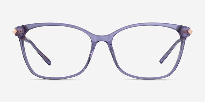 Ashley Purple Acetate-metal Eyeglass Frames from EyeBuyDirect, Front View