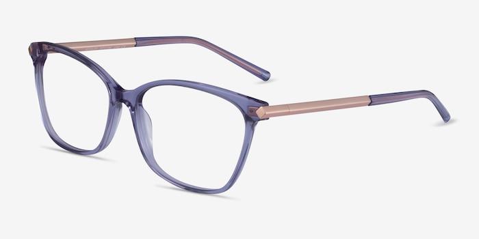 Ashley Purple Acetate-metal Eyeglass Frames from EyeBuyDirect, Angle View