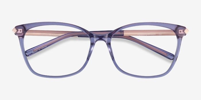 Ashley Purple Acetate-metal Eyeglass Frames from EyeBuyDirect, Closed View