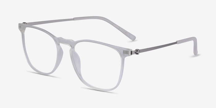 Avery Clear Plastic-metal Eyeglass Frames from EyeBuyDirect, Angle View