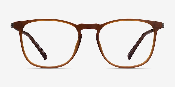 Avery Brown Plastic-metal Eyeglass Frames from EyeBuyDirect, Front View